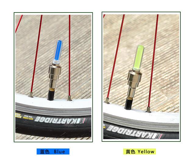 Bateria w zestawie LED rower światła koła opony zawory rowerowe światło jazda na rowerze Sport szprychy bezpieczeństwa Lampa ostrzegawcza Taillight SA-7 tanie i dobre opinie Agares Nakrętki zaworów opon Baterii Światła rowerowe BL-01