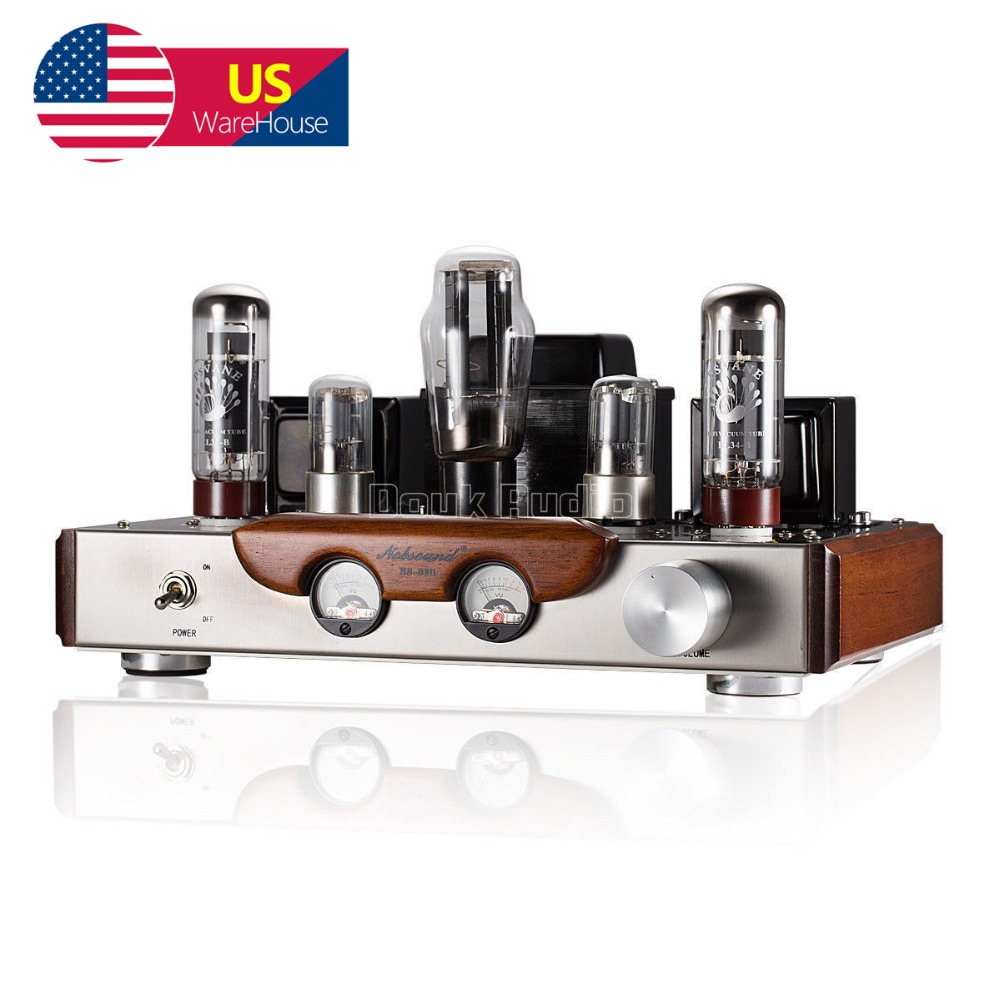 Nobsound High-end EL34 Valve Tube Amplifier Stereo Hi-Fi Single-ended Class A Power Amp Brushed Metal Panel Amp