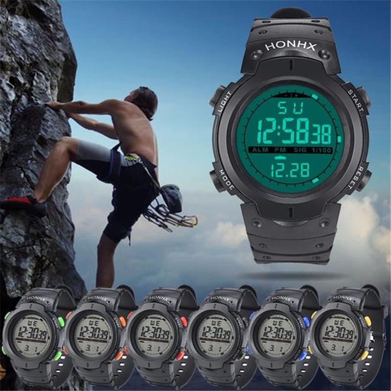 Waterproof Outdoor Mountaineering Sports Men s Watch Digital LED Quartz Date Rubber Wrist Watches Stopwatch Relogio