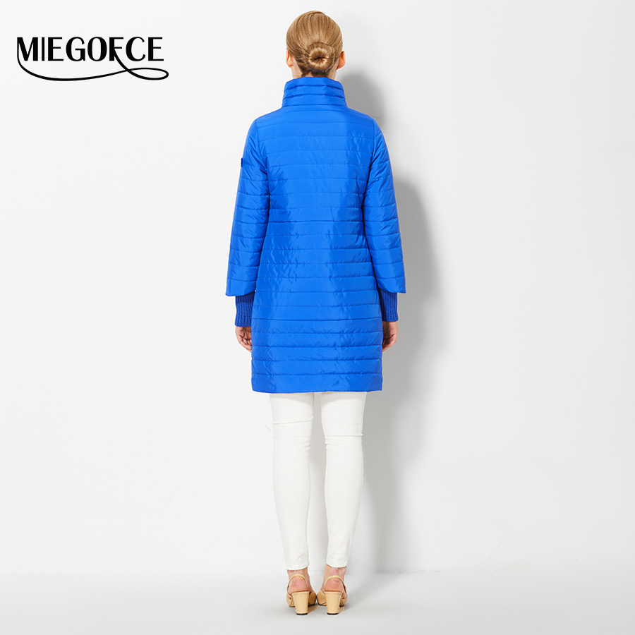 2017 Women s Coat Spring Autumn Women s Fashion Windproof Parkas Female  Spring Jacket With Scarf New Design Hot Sale MIEGOFCE-in Parkas from Women s  ... 87e9cb286f01