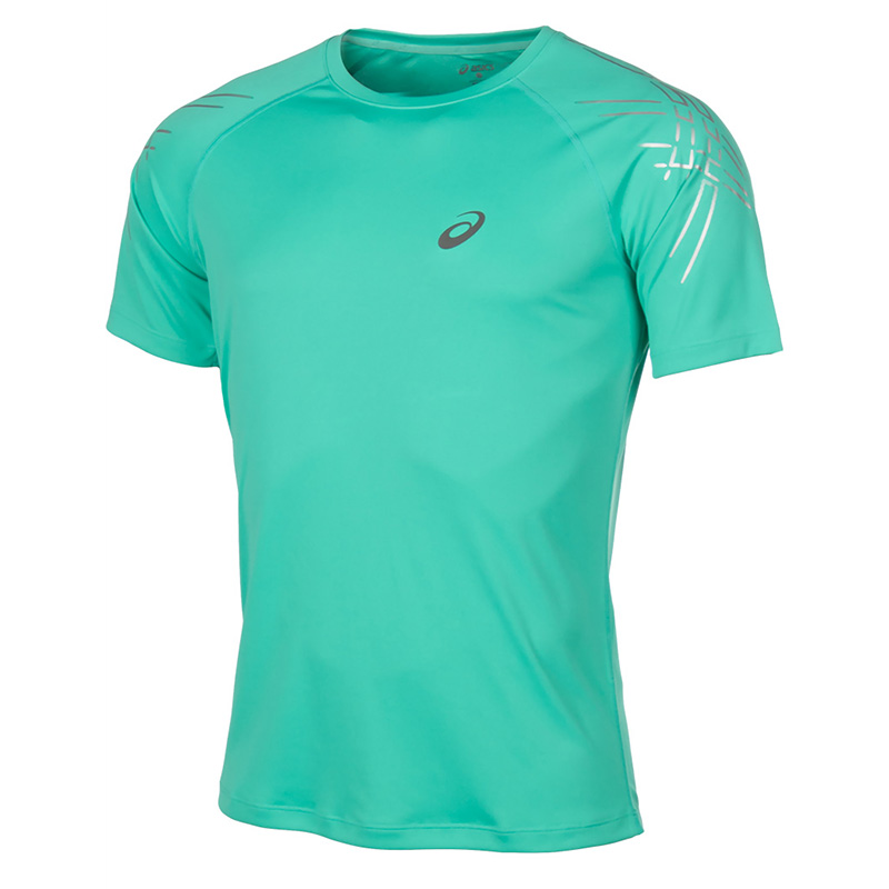 Male T-Shirt ASICS 126236-4005 sports and entertainment for men sport clothes available from 10 11 asics running t shirt 141240 1107