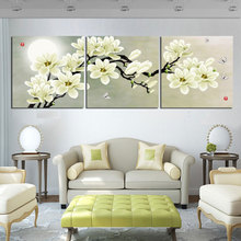 No Frame 3 PCS Modern Flower Painting On Canvas Wall Art Cuadros Flowers Picture Home Decor For Living Room FY03