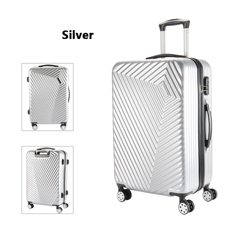 LeTrend Women Korea Rolling Luggage Spinner password Trolley Suitcase Wheels 20 inch Carry On Travel Bag Men Trunk