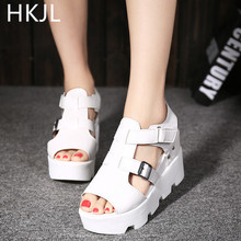 HKJL Summer 2019 Hanediti1on new fashion sandals women Waterproof Taiwan wedges platform shoes B001