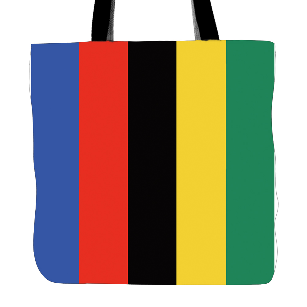 Colorful Stripes Printed Tote Bag For Shopping Food Convenience Women Shoulder White Canvas Hand Bags Two Sided Printing