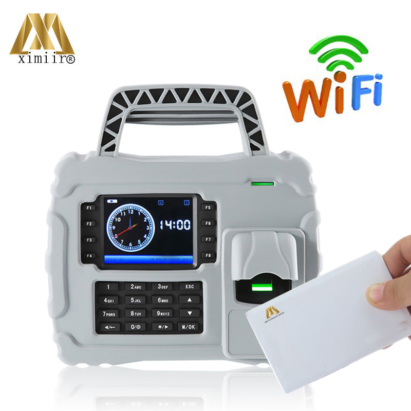 Free SDK 5000 Fingerprint User TCP/IP Wi-Fi S922 Employee Time Recording 13.56MHz IC Card Fingerprint Time Attendance System