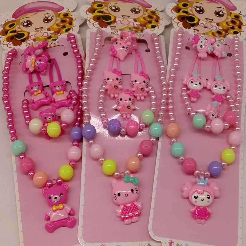Fashion Children Headwear 5PCS/set t Hello Kitty Hair Clip Gum Elastic Bands Hair Accessories Barrettes Scrunchies For Cute Baby