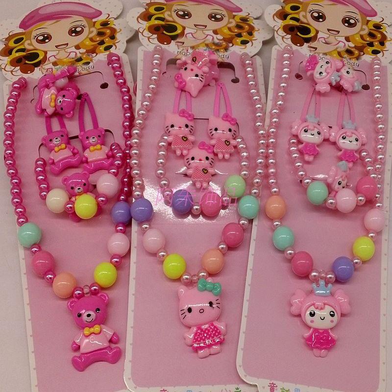 Fashion Children   Headwear   5PCS/set t Hello Kitty Hair Clip Gum Elastic Bands Hair Accessories Barrettes Scrunchies For Cute Baby