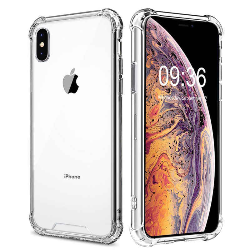 Shockproof Bumper Transparent protection Phone Case For iPhone 11 X XS XR XS Max 8 7 6 6S Plus Clear Silicone Back Cover