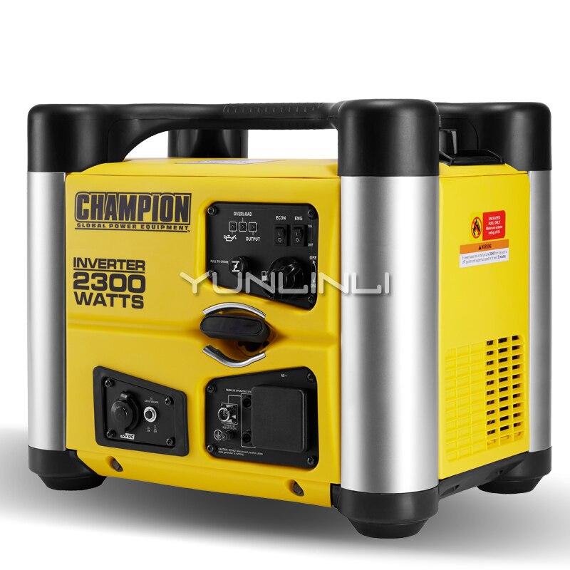 Бензиновый генератор 2KW220V домашние RV открытый небольшой цифровой преобразователь Портативный многоцелевой ультра тихий генератор 72301i