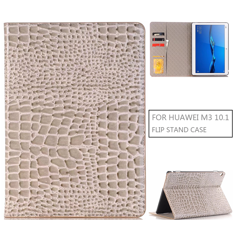 Funda Case for HUAWEI Mediapad M3 Lite 10.0 10.1 2017 New,AOZIPU PU Leather Tablet Case Flip Smart Protective Stand Cover image
