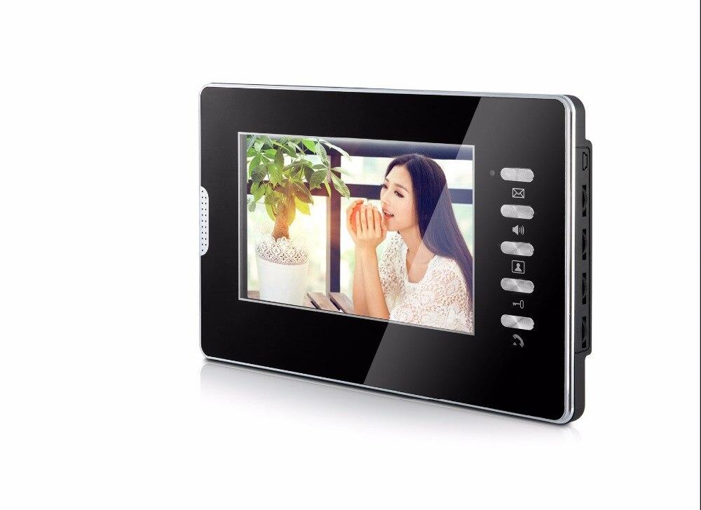 YobangSecurity Home Video Door Phone Doorphones 7Inch Color Monitor Video Intercom System Rfid Video Doorbell For 12 Apartments