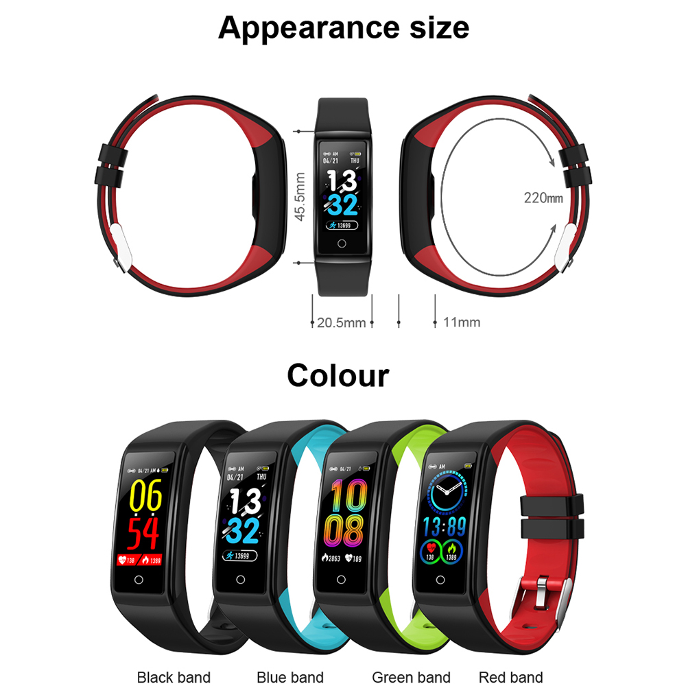 H3 Smart Watches Blood Pressure Alarm Clock Heart Rate Monitor Fitness Tracker in Smart Wristbands from Consumer Electronics