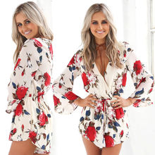 Fashion Womens Holiday Playsuit Ladies Summer Jumpsuit Romper Bodycon Clubwear Trousers