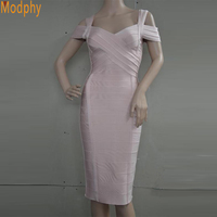 Summer Sky Blue Pink Backless Dress 2016 New Women Sexy Bodycon Off The Shoulder Elegant