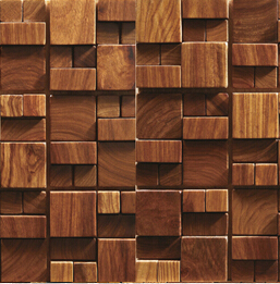 Home decoration rosewood mosaic tiles interior wall tiles for Wooden hotel design