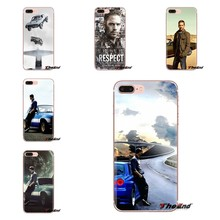 Voor iPod Touch Apple iPhone 4 4S 5 5S SE 5C 6 6S 7 8 X XR XS Plus MAX Transparante Zachte Gevallen Covers Snelle en Furious Paul Walker(China)