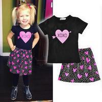 Summer baby girls t-shirt Dress Sets Clothing Sets cartoon clothing girls Baby girls clothing sets girls clothes D3-26B