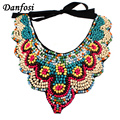 Danfosi Bohemia Multicolor Wood Beads Collar Necklaces For Women Fashion Choker Handmade Big Jewelry Statement Necklace N702