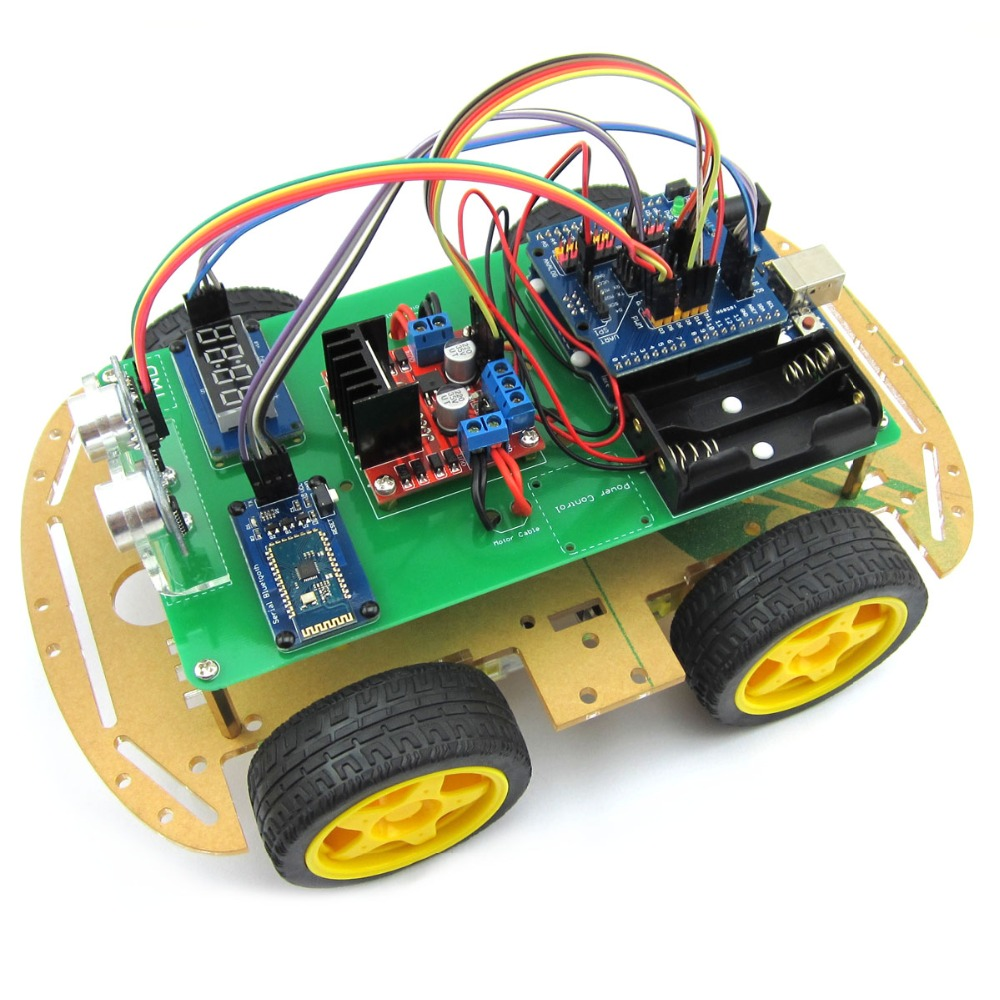 OPEN-SMART 4WD Bluetooth Controlled Smart Robot Car Kit w/ Installation Tutorial & Demo Code for Arduino