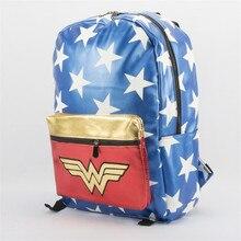 e368ac85c1 DC Film e La Televisione Intorno Wonder Woman Zaino Degli Uomini di Modo e  Donne Casual Zaino Junior Sacchetto di Scuola Sacchet.