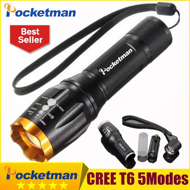 цена на CREE T6 LED Flashlight 3800 Lumens Zoomable Lantern LED Torch Torche Lampe Lanterna 5 modes for hiking fishing camping ZK93