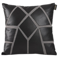 New Velutum & Pu Cushion Cover patchwork white black Europe brief Cushion Side pillow case Cover home room sofa Dec FG944