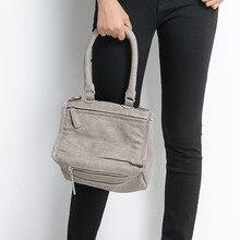 2016 Famosos de Europa Marca Mujeres Bolsas de Hombro Pandora Bolsas Pequeñas Dan Moda Negro Mini Bolso de Mensajero Bolso de Cuero Suave