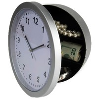Wall Clock Hidden Secret Safe Box For Cash Money Jewelry Storage Security Safes