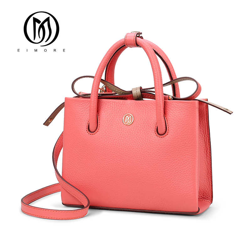 EIMORE New Arrival Women Handbag Genuine Leather Casual Tote Female Luxury Designer Shoulder Bags Famous Brand Bags for Women