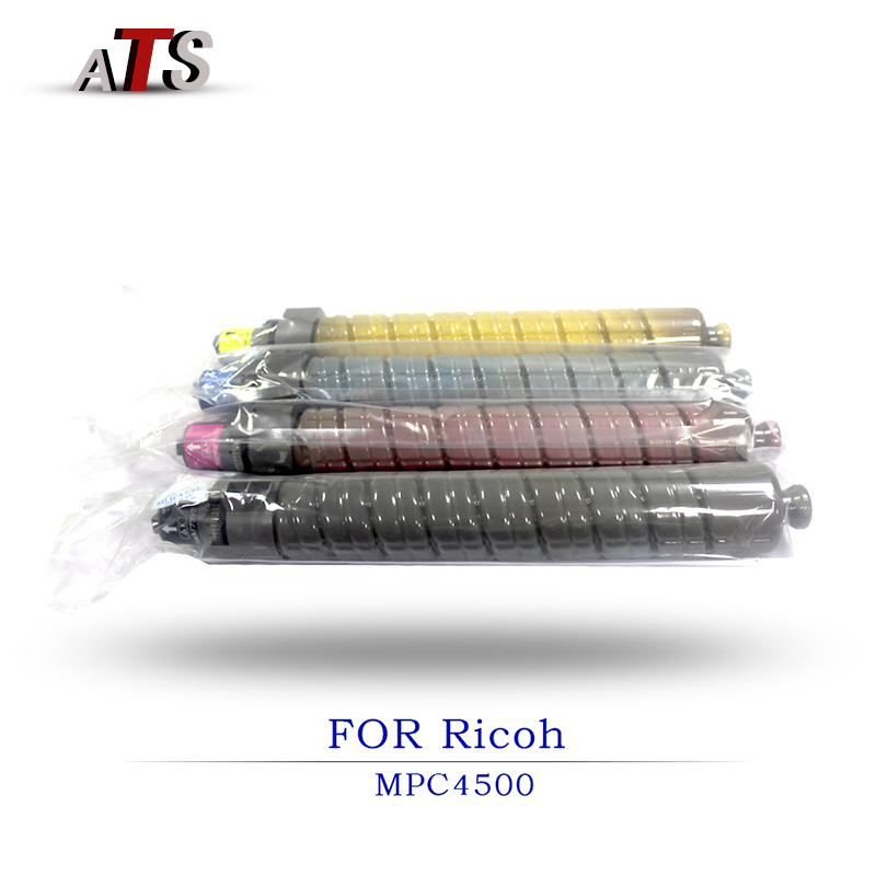 1PCS Color Toner Cartridge For Ricoh MPC4500 MPC3500 Compatible Copier Parts MPC 4500 3500 Photocopy machine Printer Supplies copier color toner powder for ricoh aficio mpc2030 mpc2010 mpc2050 mpc2550 mpc2051 mpc2550 mpc2551 mp c2530 c2050 c2550 printer