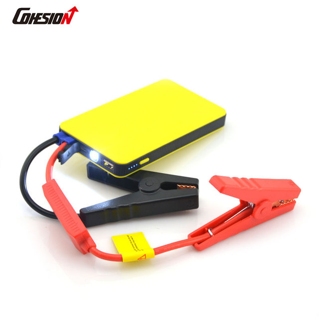 Phone Charger Battery Auto Car Jump Starter Booster Emergency Power Bank 6000mAh Yellow
