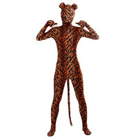 Ensnovo Spandex Tiger Costume Cosplay Zentai Zebra Leopard Bodysuit Unitard Body Suit Stretch Lycra Full Body Animal Costumes