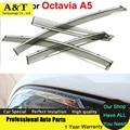 A&T Windows visor car styling Awning Shelters Vent Rain Sun Shield Window Visor For Skoda Octavia A5 Senda 2010 2011 2012 2013 C