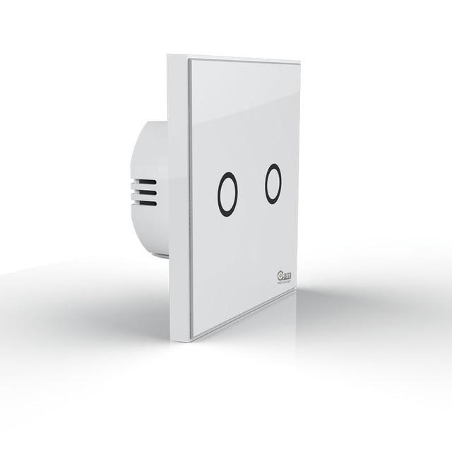 NEO COOLCAM NAS-SC01Z Z-wave Plus Muur Lichtschakelaar 2CH Gang Domotica Z Wave Draadloze Smart Afstandsbediening lichtschakelaar