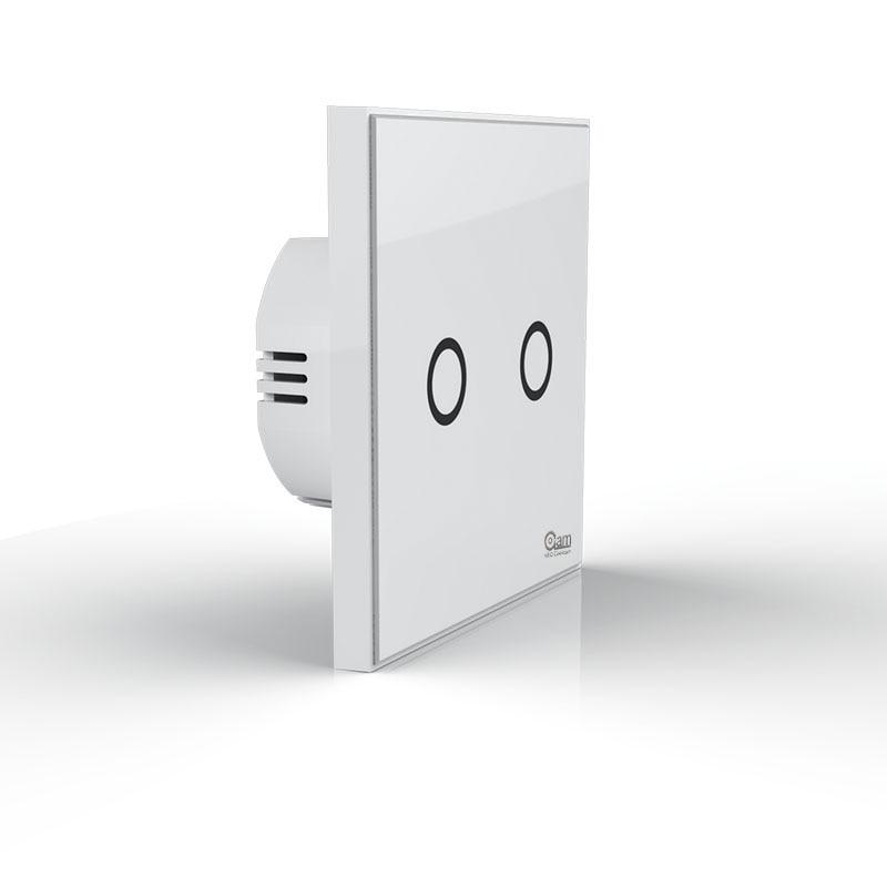 NEO COOLCAM NAS-SC01Z Z-vague Plus Mur Interrupteur 2CH Gang Domotique Z Vague Sans Fil Intelligent Télécommande Interrupteur de lumière