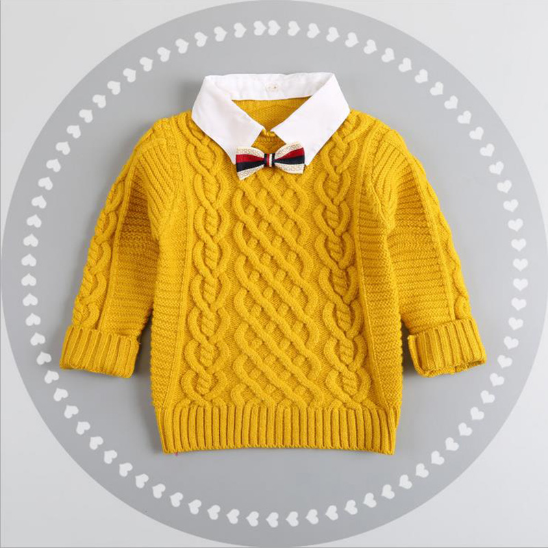 Hot Winter Children Clothing Unisex Kids Fashion Thick Knitted Turtleneck Sweater Coat Baby Boys Girls Sweater