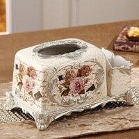 Fashion multifunctional tissue box table napkin box living room coffee table remote control resin tissue box