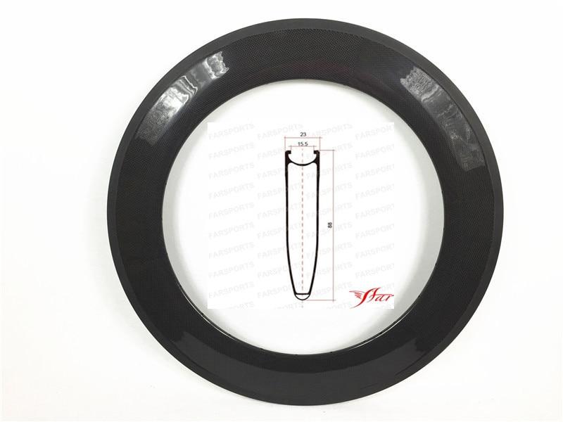 V shape carbon clincher rims 88mm for road bike, 20.5mm 23mm wide clincher rims with basalt brake surface OEMS carbon rimsV shape carbon clincher rims 88mm for road bike, 20.5mm 23mm wide clincher rims with basalt brake surface OEMS carbon rims