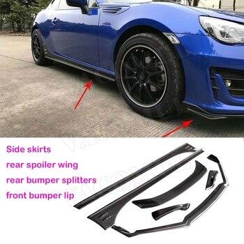 Carbon Fiber Front Rear Bumper Lip Spoiler Rear Fender Side Skirts Body Kit for Toyota BRZ FT86 GT86 ZN6 2013 2014 2015