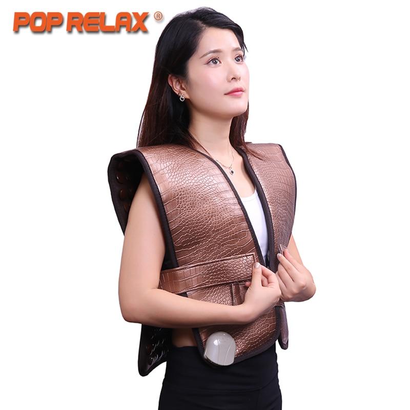 POP RELAX saudável elétrica produtos mat dispositivo de fisioterapia cinto cervical terapia aquecimento turmalina ombro cinto de massagem nas costas