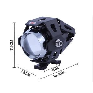 Image 3 - Huiermeimi farol de moto 125w, 2 peças, luz auxiliar, u5, acessórios para moto e rbike, 12v ponto de cabeça luzes