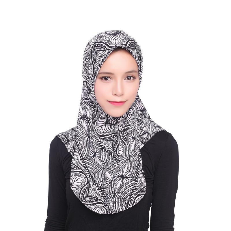 Arab Vintage Hijabs Muslim Womens Polyamide Hijab Cap