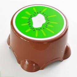 Kiwi табуреты с фруктовым узором для дома и офиса, Детский милый банный нескользящий табурет для детей от 2 до 6 лет