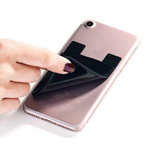 ETya Moda Mulheres Homens Titular do Cartão de Cartão de Ônibus etiqueta Do Telefone Celular Caso Bolso Business Credit ID Titular Do Cartão Fino Em 3 Adesiva 3M