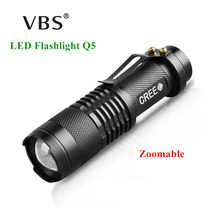 LED Flashlight Mini Zoom Tourch Led 7W CREE 2000LM Waterproof 3 Modes Zoomable Torch AA 14500 battery Flashlights