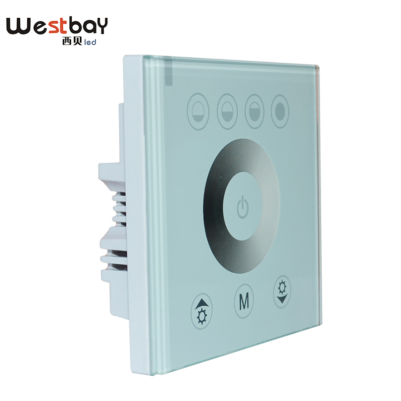 Westbay Touching Panel LED Dimmer Switch at 12V-24V,144W 12A or 288W 6A Power switch on/off Adjustable Light Controller