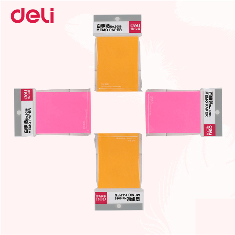 Deli New Korean Kawaii Sticky memo Notes Creative Post Note pad Filofax Memo Pads Office School Stationery supplies 2017