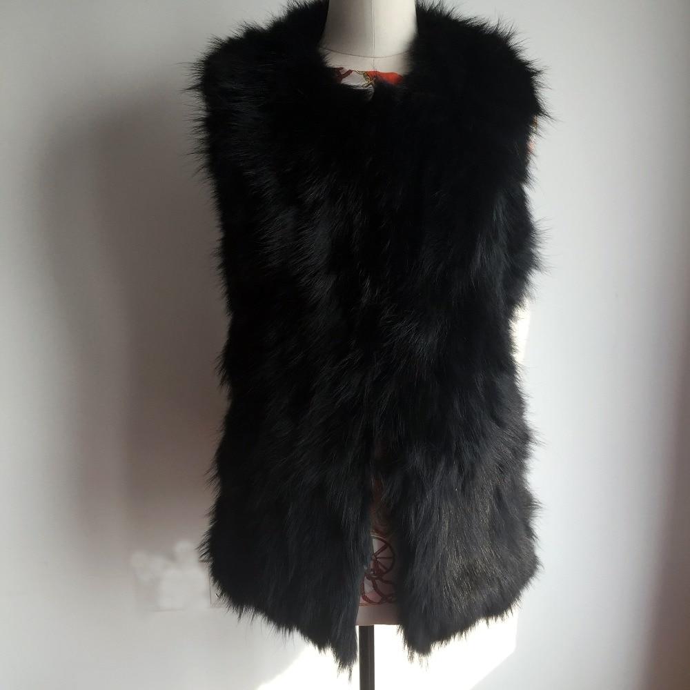 2018 Fashion Real Fox Fur Vest Women Natural Fur Gilet Hot selling low discount Vest DH281