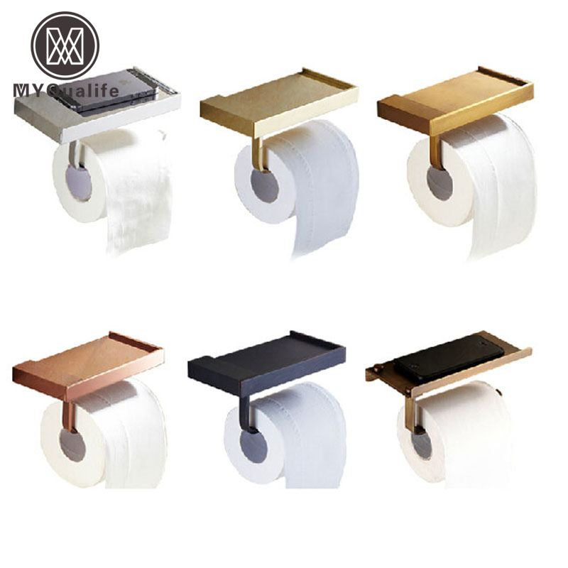 Free Shipping Multi Style Toilet Paper Holder Bathroom Mobile Holder Toilet Paper Rack Wall Mounted bathroom accessory antique brass wall mounted copper toilet paper roll holder free shipping aba037